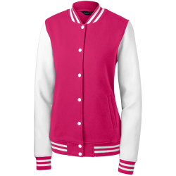 Sport-Tek Womens Fleece Letterman Jacket
