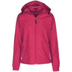 Sport-Tek Ladies Jersey-Lined Hooded Windbreaker