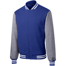 Sport-Tek Mens Fleece Letterman Jacket