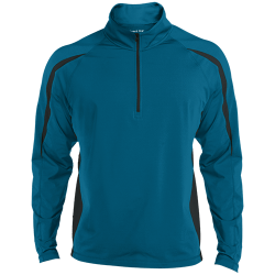 Sport-Tek Mens Sport Wicking Colorblock 1/2 Zip