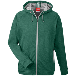 Team 365 Mens Heathered Performance Hooded Jacket