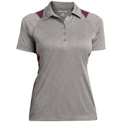 Sport-Tek Ladies Heather Moisture Wicking Polo