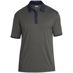Sport-Tek Mens Heather Contender Contrast Polo