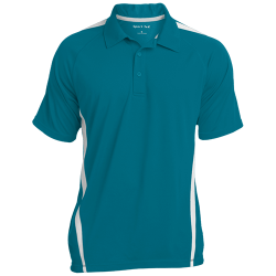 Sport-Tek Mens Colorblock 3-Button Polo