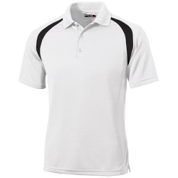 Sport-Tel Mens Moisture-Wicking Tag-Free Golf Shirt
