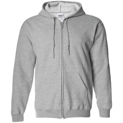 Gildan Unisex Zip Up Hooded Sweatshirt
