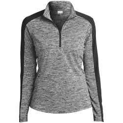Sport-Tek Ladies Electric Heather Colorblock 1/4-Zip Pullover