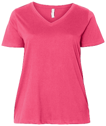 LAT Ladies' Curvy V-Neck T-Shirt