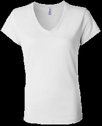 Bella + Canvas Ladies' Jersey V-Neck T-Shirt