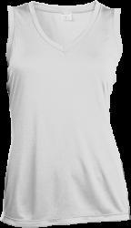Sport-Tek Ladies' Sleeveless Moisture Absorbing V-Neck