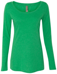 Next Level Ladies' Triblend LS Scoop