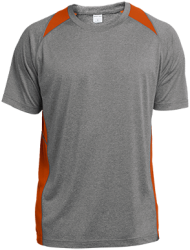 Sport-Tek Mens Heather Colorblock Poly T-Shirt